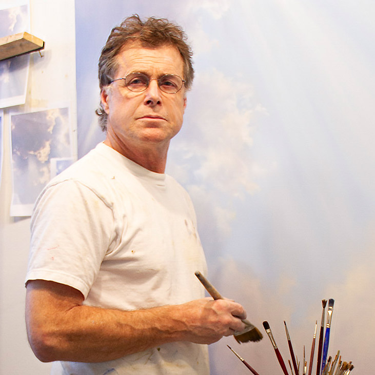 Robert Bissell at his Atelier