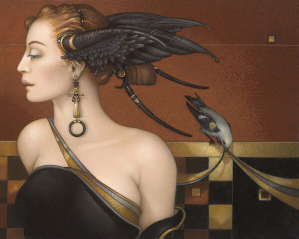 Canvas Giclee of Michael Parkes Black Orchid