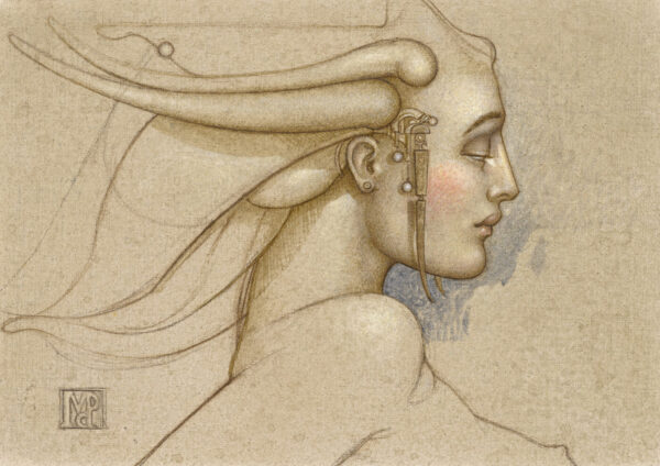 Paper Giclee of Michael Parkes Angel Study