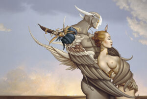 Canvas Giclee of Michael Parkes Diamond Warrior
