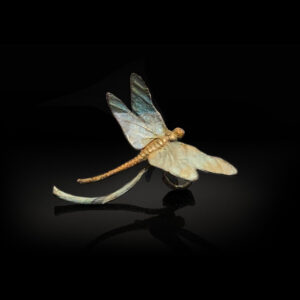 Bronze Custom Patina Sculpture of Michael Parkes Dragonfly