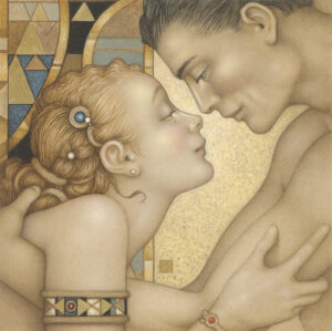 Paper Giclee of Michael Parkes First Embrace (fine art edition)