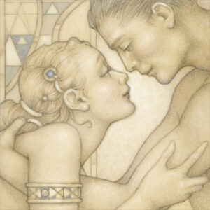 Paper Giclee of Michael Parkes First Embrace