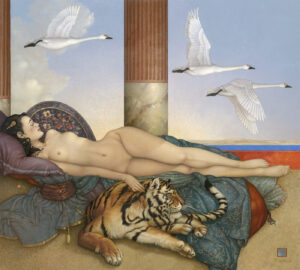 Canvas Giclee of Michael Parkes Going Nowhere 2020