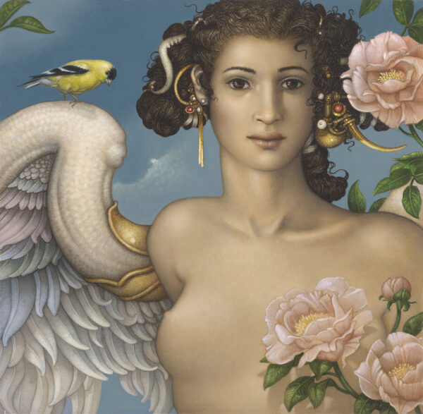 Canvas Giclee of Michael Parkes Golden Finch