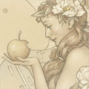 Paper Giclee of Michael Parkes Golden Fruit