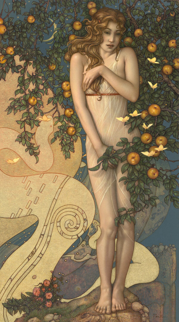 Canvas Giclee of Michael Parkes Midnight Garden