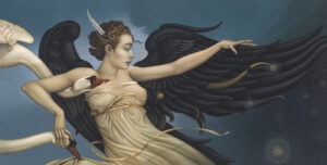 Canvas Giclee of Michael Parkes Nightfall