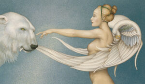 Canvas Giclee of Michael Parkes Polar Wings