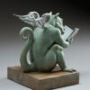"Bronze Custom Patina Sculpture of Michael Parkes ""REX"" Libris Dragon - rear"