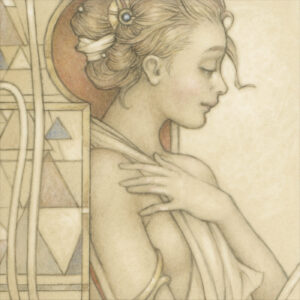 Paper Giclee of Michael Parkes Reflections