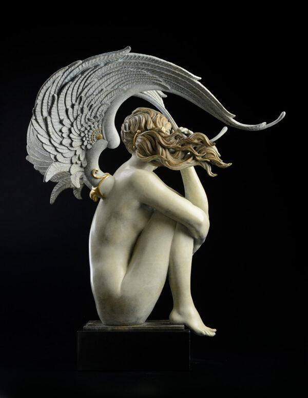 Bronze Custom Patina Sculpture of Michael Parkes Summer Storm - rear