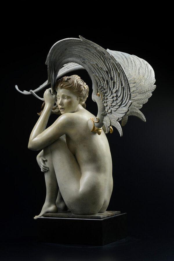 Bronze Custom Patina Sculpture of Michael Parkes Summer Storm - side 2