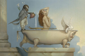 Canvas Giclee of Michael Parkes The Bath