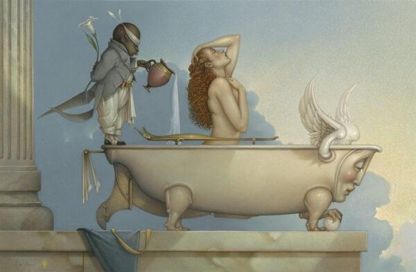 Canvas Giclee of Michael Parkes The Bath