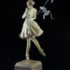 Bronze Custom Patina Sculpture of Michael Parkes Tuesday's Child - side 2