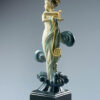 Bronze Custom Patina Sculpture of Michael Parkes Venus