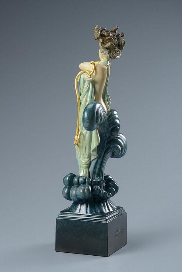 Bronze Custom Patina Sculpture of Michael Parkes Venus - rear